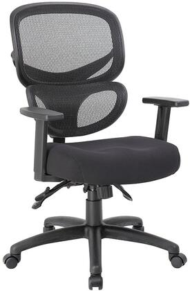 """Boss B633 38"""" Multi-Function Mesh Task Chair with Active Lumbar Support, Height and Width Adjustable Arms, Memory Foam Seat Cushion, 3 Paddle Multi-Function Tilting Mechanism, Adjustable Tilt Tension Control and 27"""" Nylon Base in Black"""