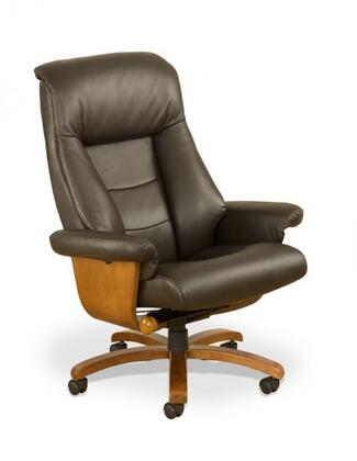 Mac Motion MANDAL OFFICE-LO3-X0-103 Top Grain Leather Swivel, Recliner with Ottoman