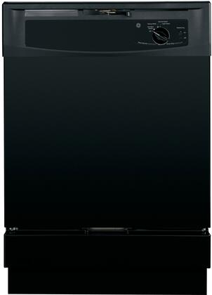 "GE GSD2100VBB 24"" Built In Full Console Dishwasher with 12 Place Settings Place Settingin Black"