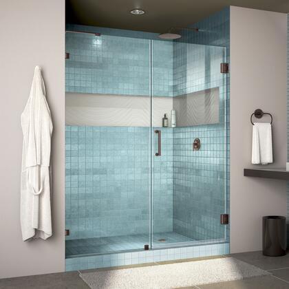 Unidoor Lux Shower Door RS30 30D 30P 06 Blue Tile