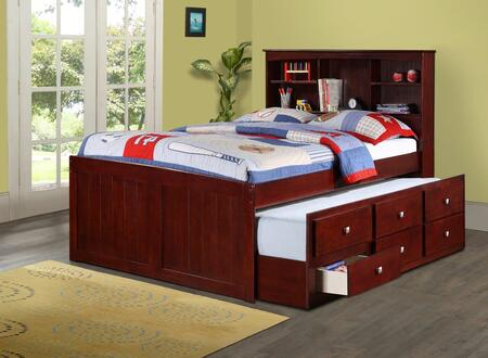 Donco 250CP Twin Mission Captains Cappucino Bookcase Trundle Bed