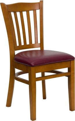 Flash Furniture XUDGW0008VRTCHYBURVGG Hercules Series Contemporary Vinyl Wood Frame Dining Room Chair
