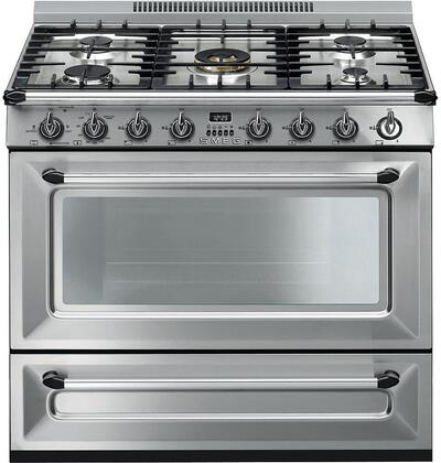 "Smeg TRU36GG 36"" Victoria Series Gas Range with 5 Sealed Burners, 4.4 cu. ft. Oven Capacity, 8 Oven Cooking Modes, European Convection"