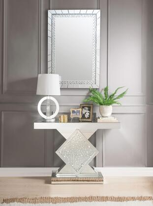 Acme Furniture Nysa Console Table and Mirror