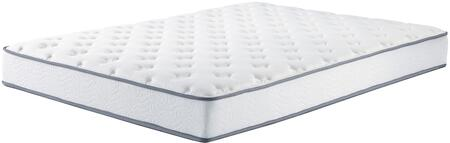 """Ashley Tori Limited Collection M964X1 8"""" Thick Mattress with Bonnell Coil Spring System, High Density Firm Padding and Quilt Foam Support in White"""