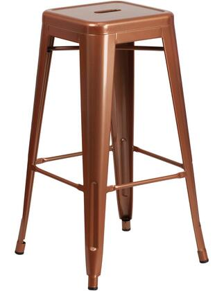 Flash Furniture ETBT350330 30inch High Backless Distressed Metal Indoor Barstool