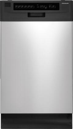 "Frigidaire FFBD1821MS 18"" 1800 Series Built In Full Console Dishwasher"