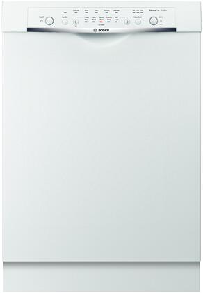 "Bosch SHE3ARL2UC 24"" Ascenta Series Built-In Full Console Dishwasher with in White"
