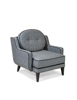 Armen Living LC10971AZ Draper Series  with Chenille Fabric Frame in Azure