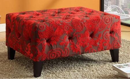 Armen Living LC5037OTRE Modern Fabric Ottoman