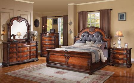 Acme Furniture 22304CK5PCSET Nathaneal California King Bedro