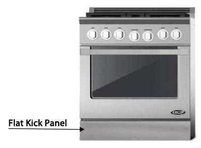 "DCS KPDU-XXSS XX"" Flat Kick Panel for use with XX"" DCS Dual Fuel Ranges, in Stainless Steel"