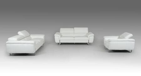 VIG Furniture VGFTHIGHLINEWHT Modern Leather Living Room Set