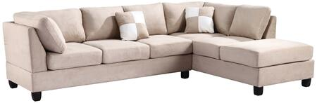 Glory Furniture G631BSC G630 Series Stationary Suede Sofa