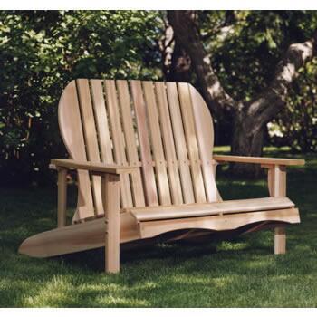 All Things Cedar LS48U  Cedar Frame  Patio Benches