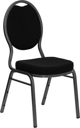 Flash Furniture FDC04SILVERVEINS076GG Contemporary Fabric Metal Frame Dining Room Chair
