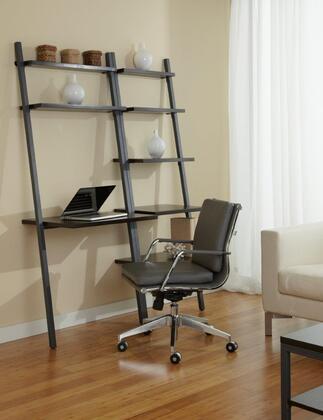 Unique Furniture 1C100012P Double Leaning Ladder Bookcase