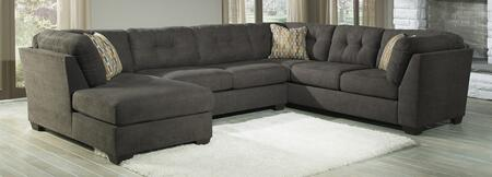 Sectional Sofa in Steel Color