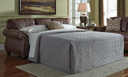 Benchcraft Breville 8000X39 Queen Sofa Sleeper with Memory Foam Mattress, Reversible Coil Seating and Nail-Head Trim Accents in