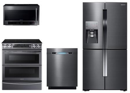 Samsung 728844 Black Stainless Steel Kitchen Appliance Packa