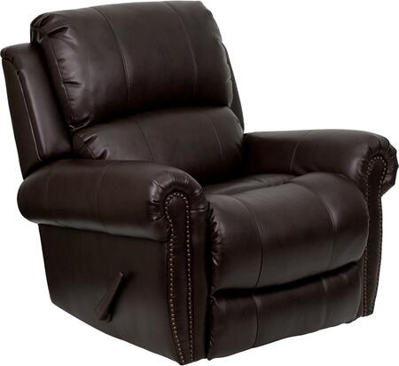 Flash Furniture MENDSC01072BRNGG Contemporary Bonded Leather Wood Frame Rocking Recliners