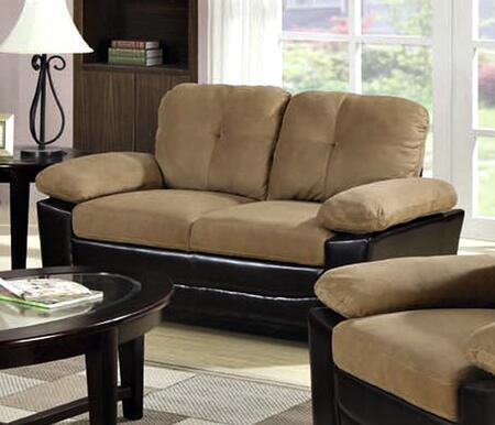 Coaster 502922 Faux Leather Stationary with Wood Frame Loveseat