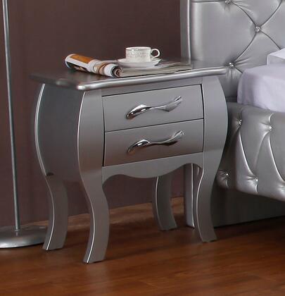VIG Furniture VGKCPLATINUMNS Modrest Monte Carlo Series Rectangular Wood Night Stand