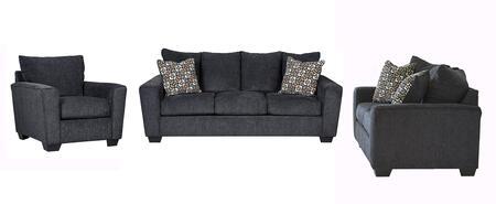 Milo Italia MI1331SLCSLAT Carley Living Room Sets