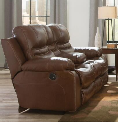 Catnapper 4249128329308329 Patton Series Leather Reclining with Metal Frame Loveseat