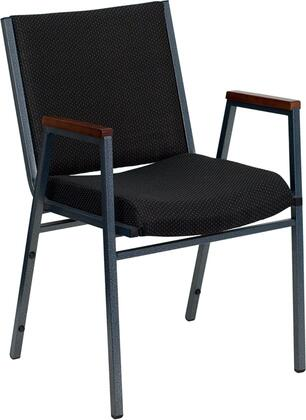 """Flash Furniture HERCULES Series XU-60154-XX-GG 18"""" Heavy Duty 3"""" Thickly Padded Fabric Patterned Upholstered Stack Chair with Arms, 18-Gauge High Carbon Steel Frame, and Plastic Floor Glides"""