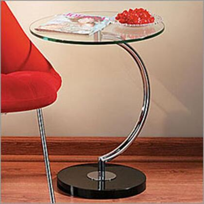 LumiSource TBC C Series Contemporary Metal Round None Drawers End Table