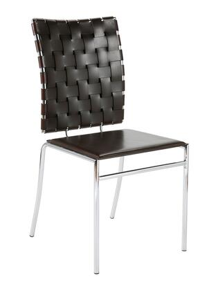Euro Style 02412 Carina Series Contemporary Leather Metal Frame Dining Room Chair