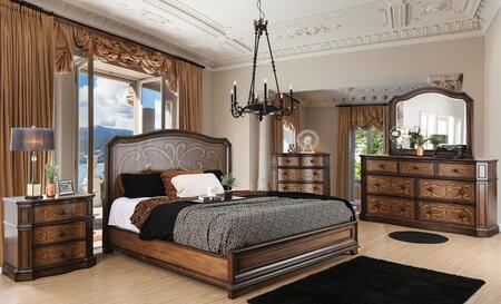 Furniture of America CM7831QBEDSET Emmaline Queen Bedroom Se