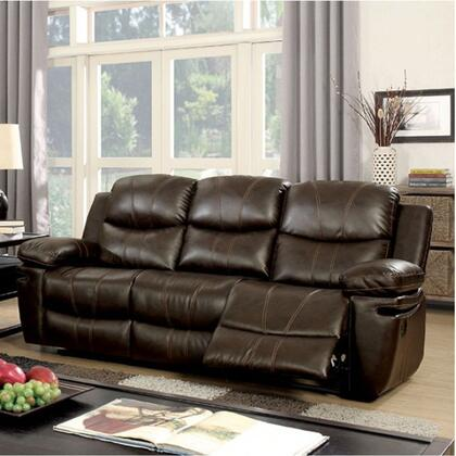 Furniture Of America Cm6992sf Listowel Series Bonded Leather Sofa