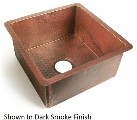 D'Vontz KS11818 Chico Copper Single Bowl Kitchen Sink With 77% Recycled Copper, 99% Pure Copper & In