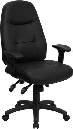 "Flash Furniture BT-2350-XX-GG 19"" High Back Leather Executive Office Chair with Pneumatic Seat Height Adjustment, Built-In Lumbar Support, Triple Paddle Control Mechanism, and Heavy Duty Nylon Base"