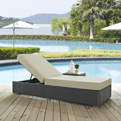 """Modway EEI1862CHCBEI 82.5"""" Water Resistant Lounge Chair"""