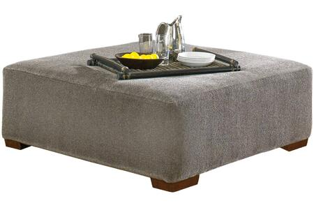 """Jackson Furniture Crompton Collection 4462-28- 50"""" Cocktail Ottoman with Padded Chenille Fabric Upholstery, Pyramid-Shaped Wooden Legs and Piped Stitching in"""