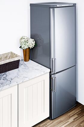 summit ffbf171ss 24 inch counter depth bottom freezer refrigerator with cu ft capacity. Black Bedroom Furniture Sets. Home Design Ideas