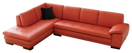 625 italian leather sectional, left arm chaise facing, pumpkin 11