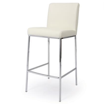 Pastel Furniture QLEA210 Emilia Bar Height Barstool in Off-White