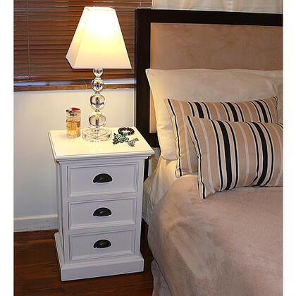 Infinita 814495012055 Halifax Series Rectangular Wood Night Stand