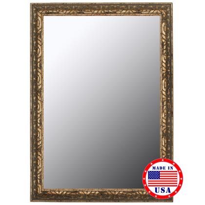Hitchcock Butterfield 80940X 2nd Look Classic Aged Silver in Olde Copper Accents Framed Wall Mirror