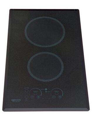 "Kenyon B41549 14"" Lite-Touch Q Series 2 Element Electric Cooktop, in Black"