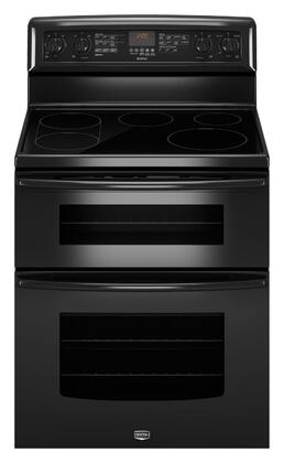 "Maytag Gemini Series MET8775X 30"" Freestanding Electric Range With 5 Radiant Elements, 4.2 cu. ft. EvenAir Convection Lower Oven, 2.5 cu. ft. Upper Oven, Self-Clean and Bridge Element and Oven Drawer in"
