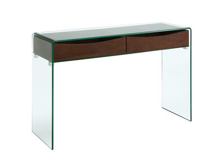 "Casabianca Ibiza Collection 47.5"" Console Table with 2 Drawers, 2 Glass Panels, Glass Top and Medium-Density Fiberboard (MDF) Materials in"