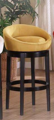 """Armen Living LCIGBAMFX Igloo Black Micro Fiber 26"""" Swivel Bar stool with Ebony Finished Legs and Removable Cover for Easy Cleaning in"""