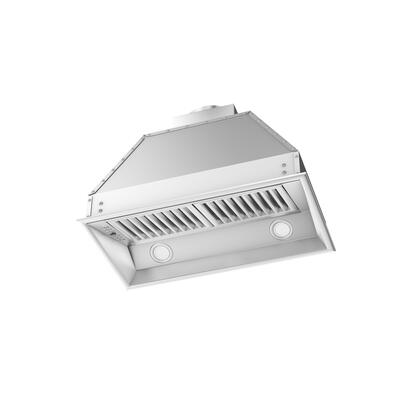 Z Line ZL698 Range Hood Insert with CFM High Performance Dual Motor, 4 Speed Levels, Directional Lights and Control Panel with LCD in Brushed Stainless Steel