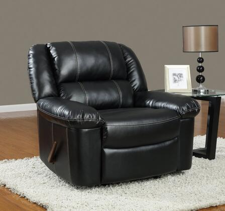 Global Furniture USA U9966BlackR Contemporary Leather  Recliners