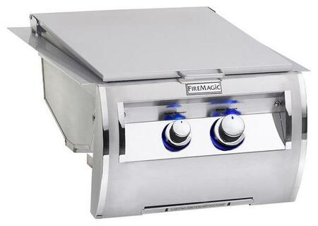 FireMagic Echelon Diamond 328841x Dual Searing Burner with Push Button Electronic Ignition, Blue LED Backlit Safety Knobs and Stainless Steel Grate